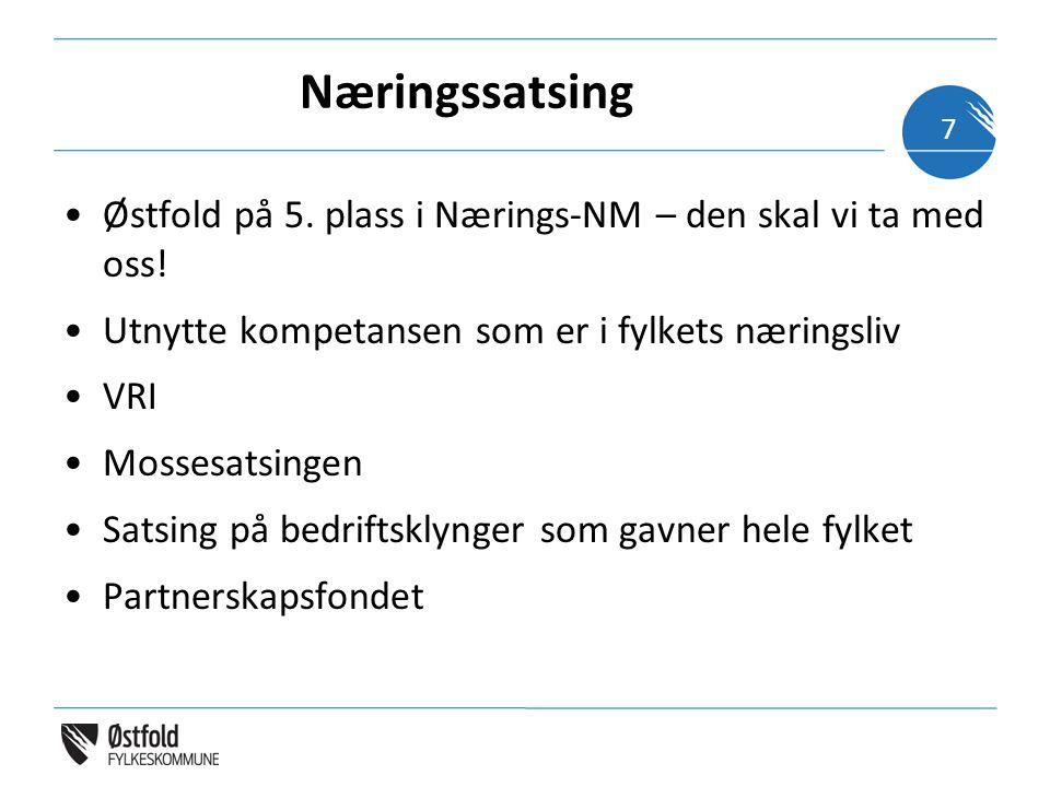Næringssatsing Østfold på 5. plass i Nærings-NM – den skal vi ta med oss.