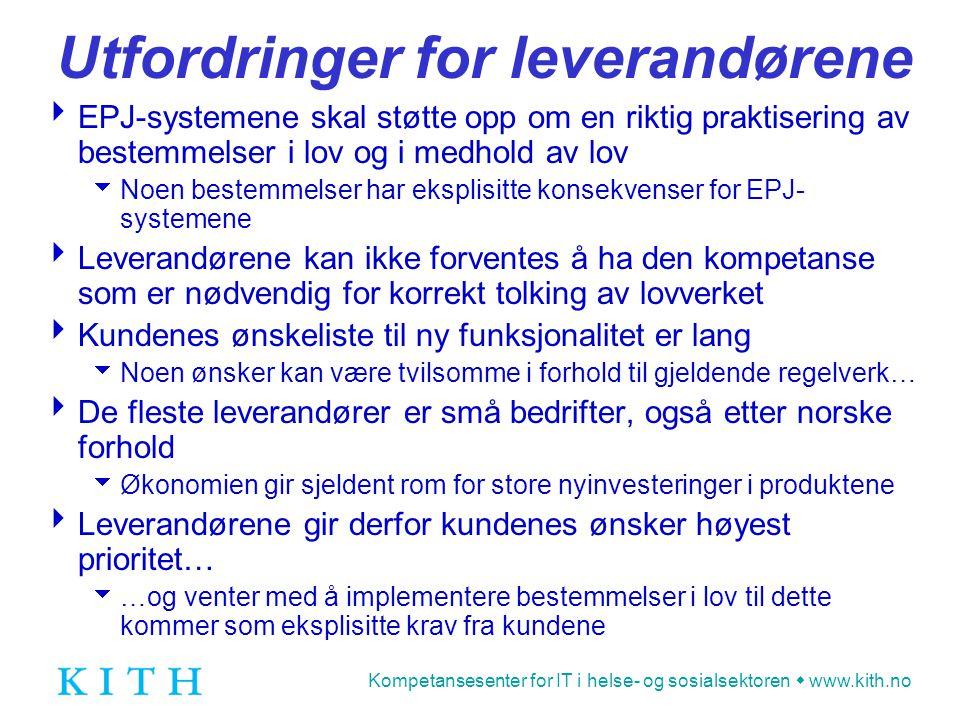 Kompetansesenter for IT i helse- og sosialsektoren  www.kith.no Forvaltningsloven  Inneholder en rekke bestemmelser som også kommer til anvendelse innenfor helsevesenet, f.eks.