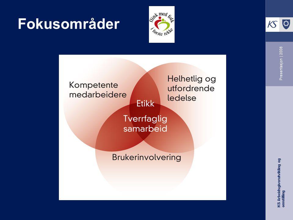 KS Arbeidsgiverutvikling og omstilling Presentasjon | 2008 Fokusområder