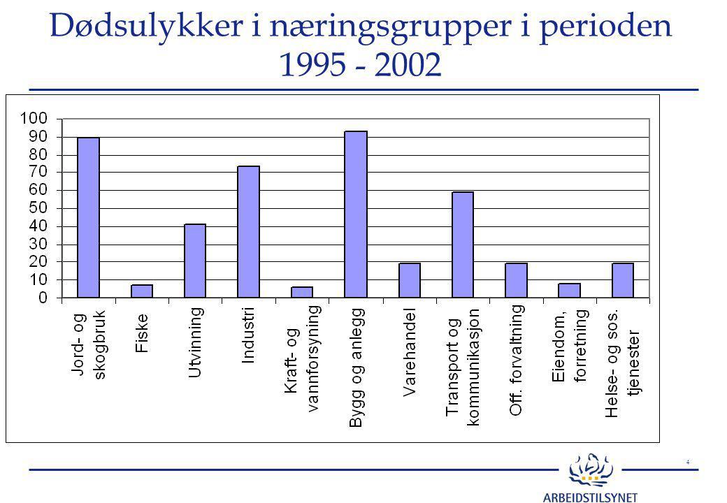 5 27 dødsulykker i verkstedindustrien 1990-2000 kilde førstegangsmeldinger