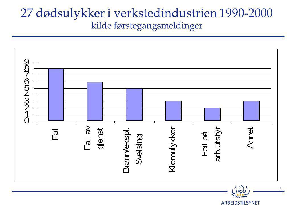 6 Dødsulykker i bygg og anlegg 1995 - 2002