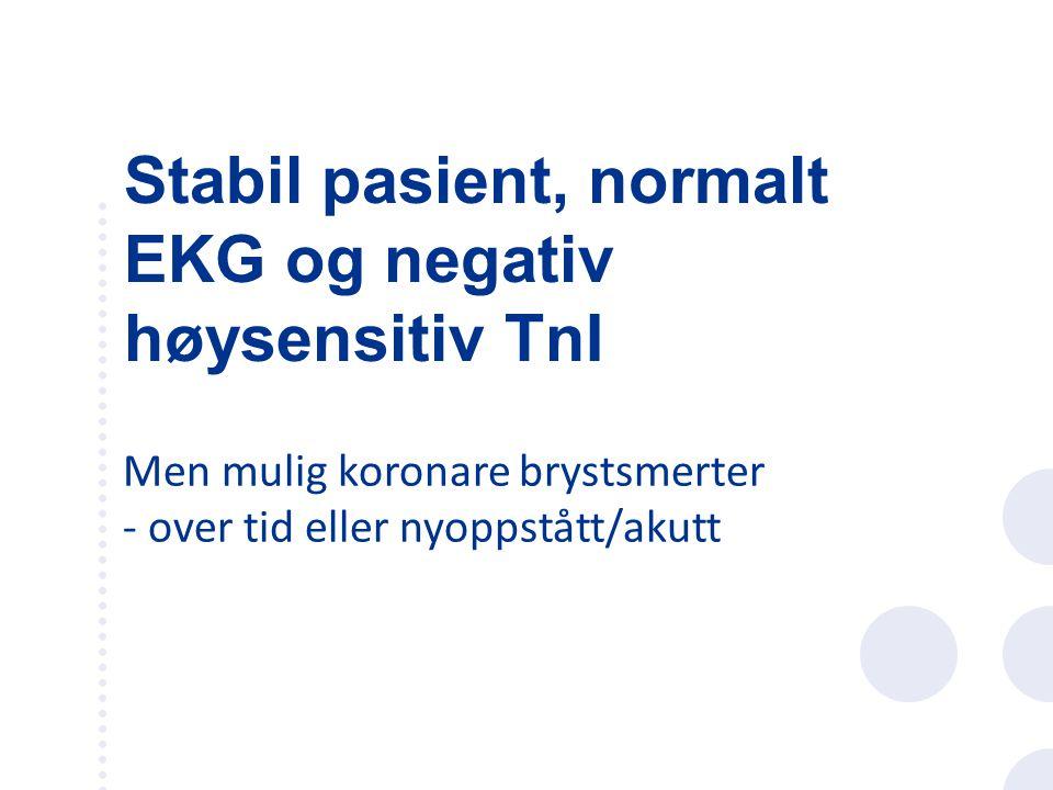 Ergometersykkel eller tredemølle –Måler kapasitet –Ser etter ischemitegn i EKG: ST-depresjoner Sensitivitet og spesifisitet ca 70 % Belastningstesting