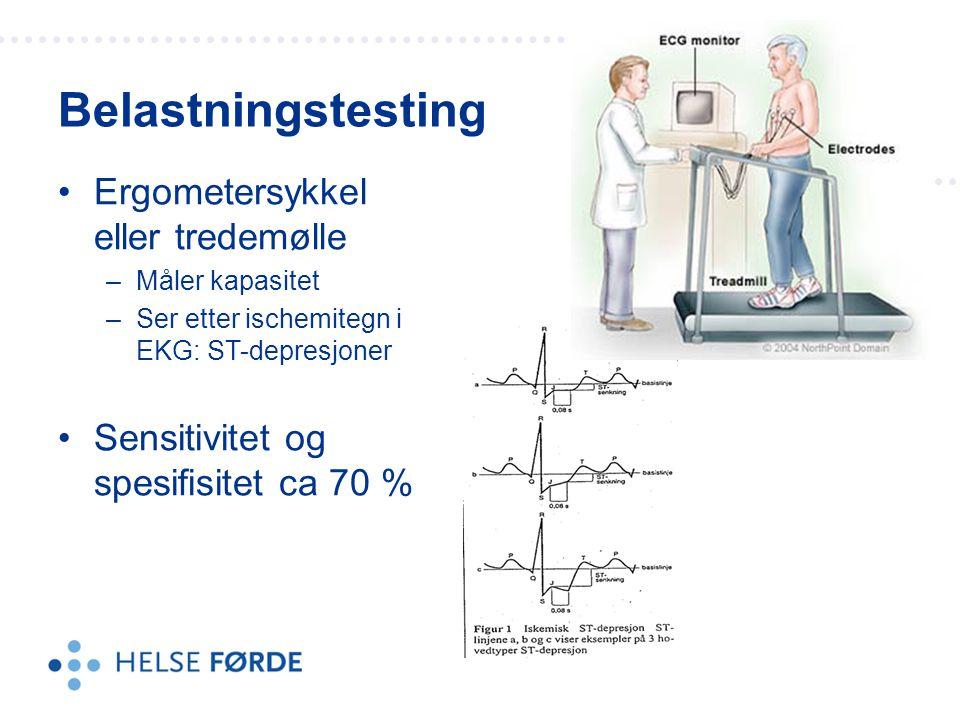 Infarktskade hjertesvikt Belastning pga høyt blodtrykk: Hypertrofi –Fortykkede og stive hjertevegger Klaffefeil Ekko cor = ultralyd av hjertet