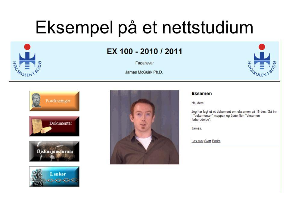 Eksempel på et nettstudium