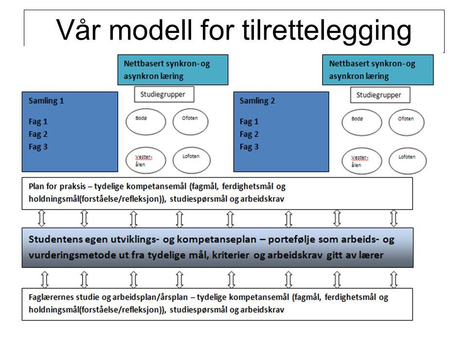 Vår modell for tilrettelegging