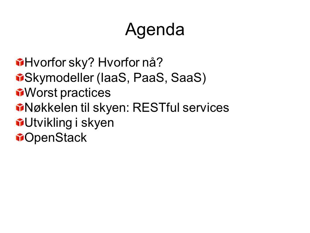 SaaS IaaS PaaS IT- arkitekter Applikasjons- utviklere Slutt- bruker e