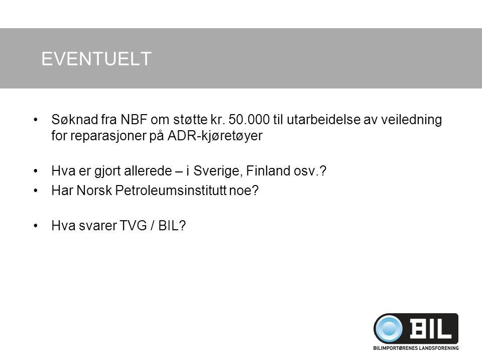 EVENTUELT Søknad fra NBF om støtte kr.