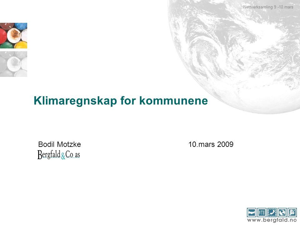 Klimaregnskap for kommunene..::Nettverksamling 9 -10.mars Bodil Motzke10.mars 2009