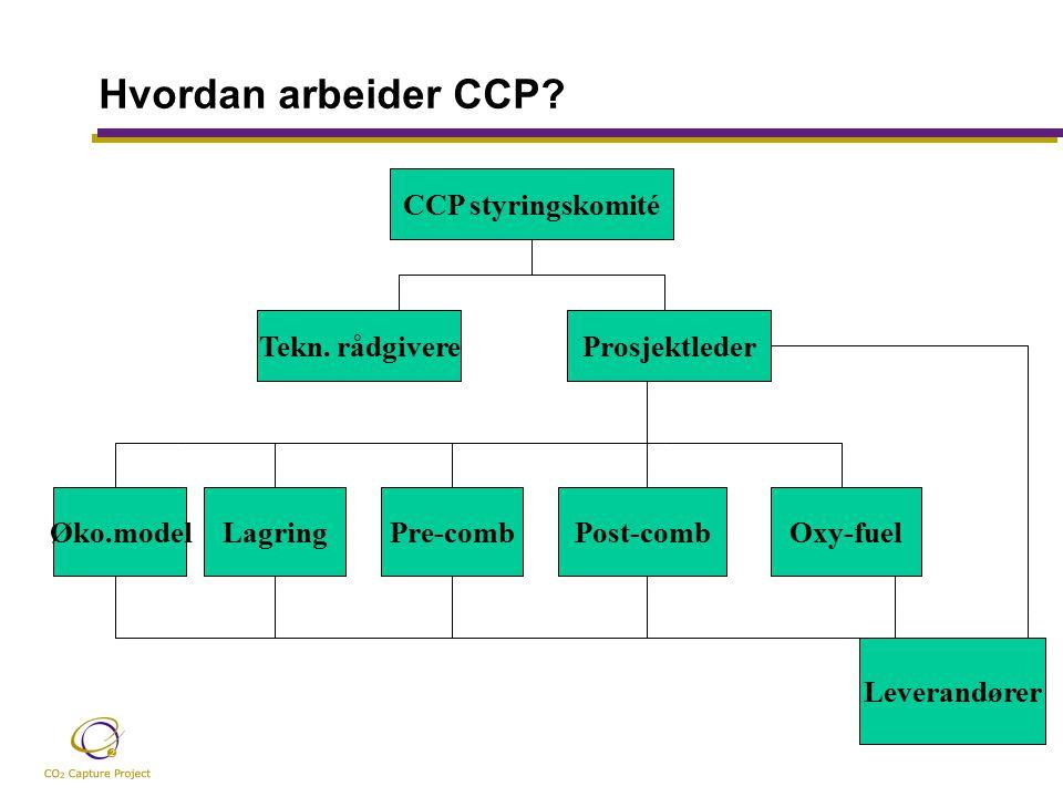 Hvordan arbeider CCP. CCP styringskomité Tekn.