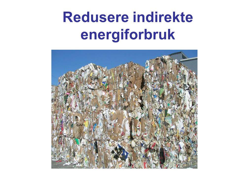 Redusere indirekte energiforbruk