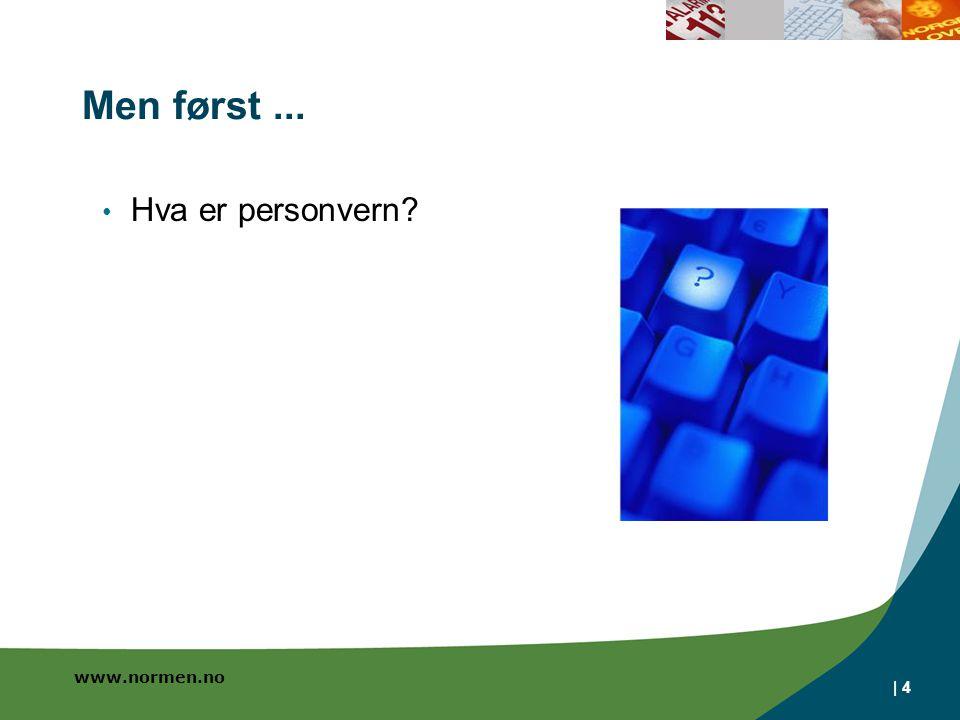 www.normen.no | 4 Men først... Hva er personvern