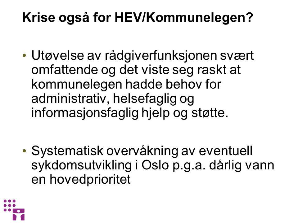Krise også for HEV/Kommunelegen.