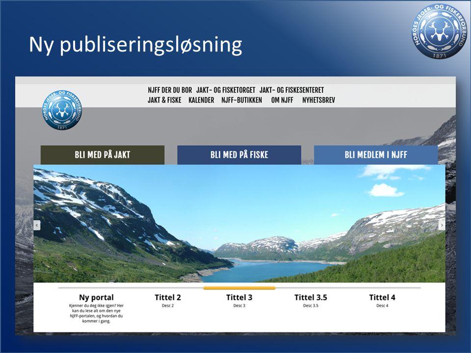 Ny publiseringsløsning