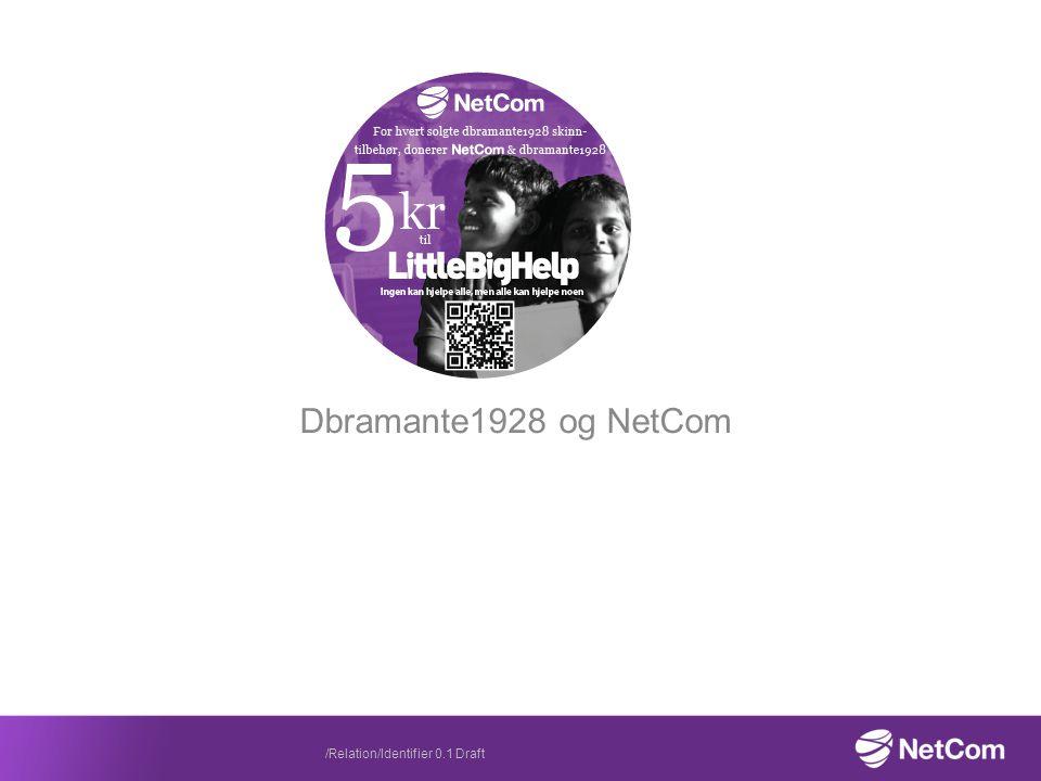 Dbramante1928 og NetCom /Relation/Identifier 0.1 Draft
