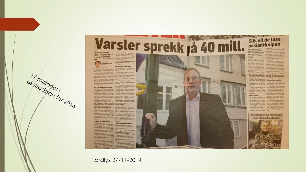 17 millioner i ekstradøgn for 2014 Nordlys 27/11-2014