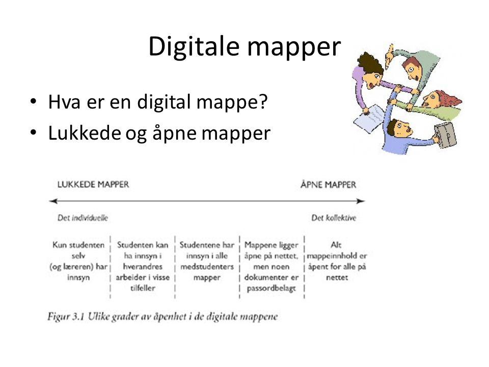 Digitale mapper Hva er en digital mappe? Lukkede og åpne mapper