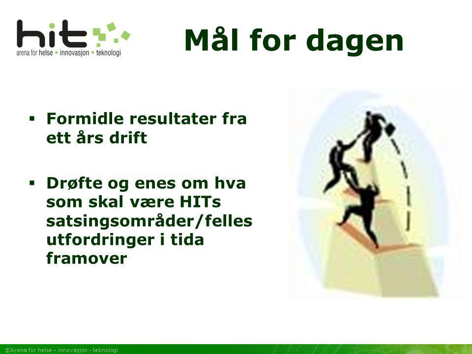 ©Arena for helse – innovasjon - teknologi Søknader  Medisinkort (Innovasjonsløft Nord) (OFU-søknad Innovasjon Norge 2006)  Mobile enheter i PLO (OFU søknad Innovasjon Norge høst 2005)  Meldinger med vedlegg (OFU-søknad Innovasjon Norge høst 2005) (Helse Nord RHF innvilget forprosjekt)