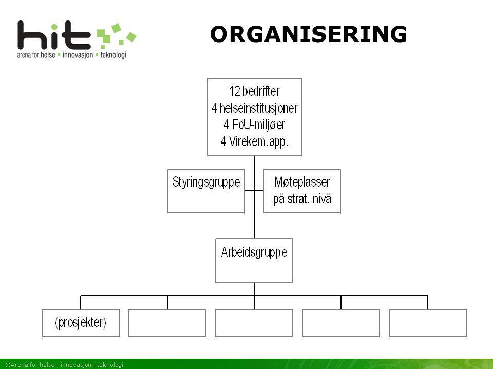 ©Arena for helse – innovasjon - teknologi ORGANISERING