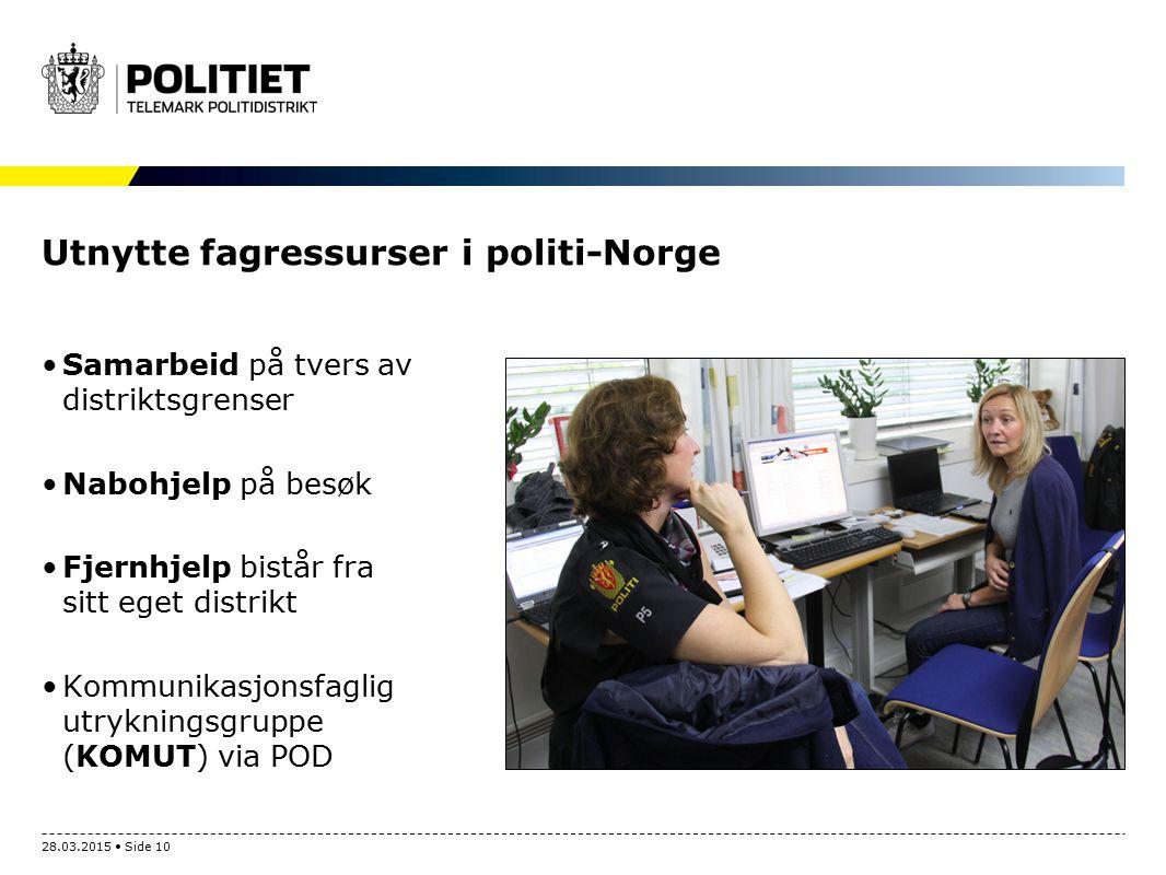 Utnytte fagressurser i politi-Norge Samarbeid på tvers av distriktsgrenser Nabohjelp på besøk Fjernhjelp bistår fra sitt eget distrikt Kommunikasjonsf