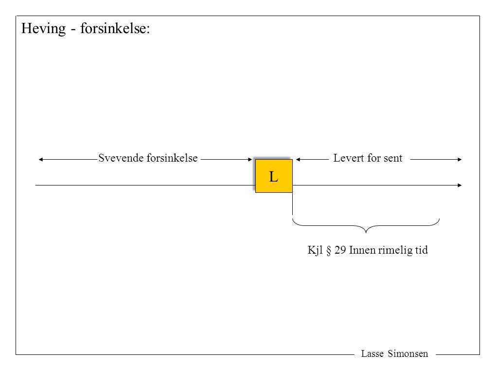 Lasse Simonsen Heving - forsinkelse: L L Svevende forsinkelseLevert for sent Kjl § 29 Innen rimelig tid