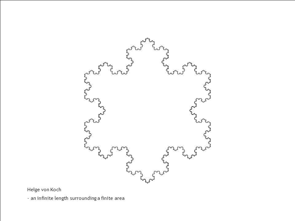 Helge von Koch - an infinite length surrounding a finite area