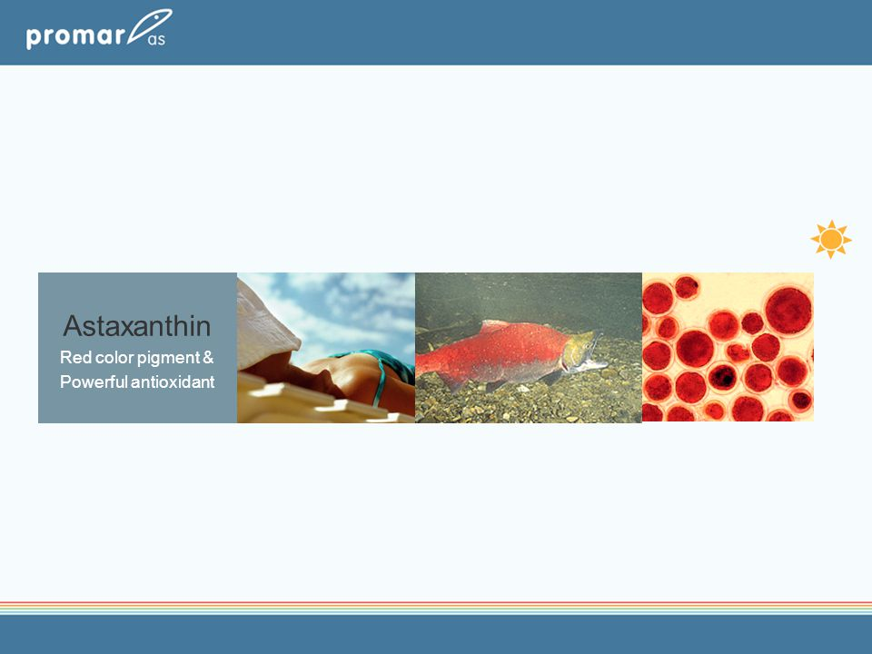 Astaxanthin Red color pigment & Powerful antioxidant