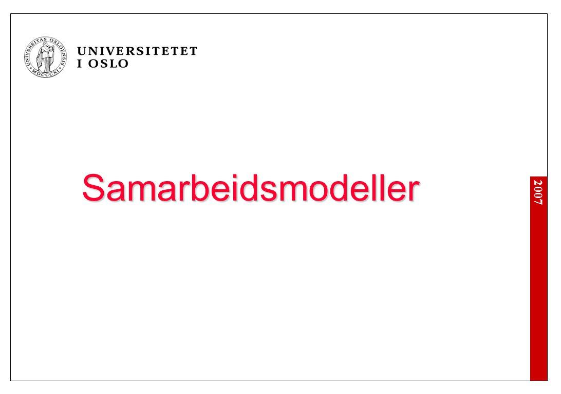 2007 Samarbeidsmodeller