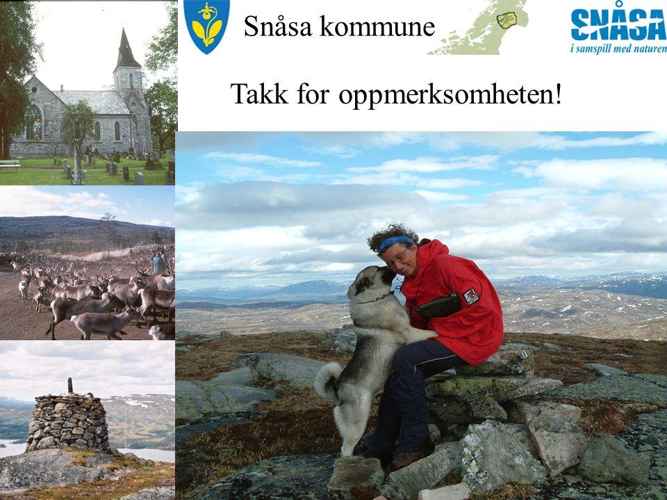 Snåsa kommune Takk for oppmerksomheten!