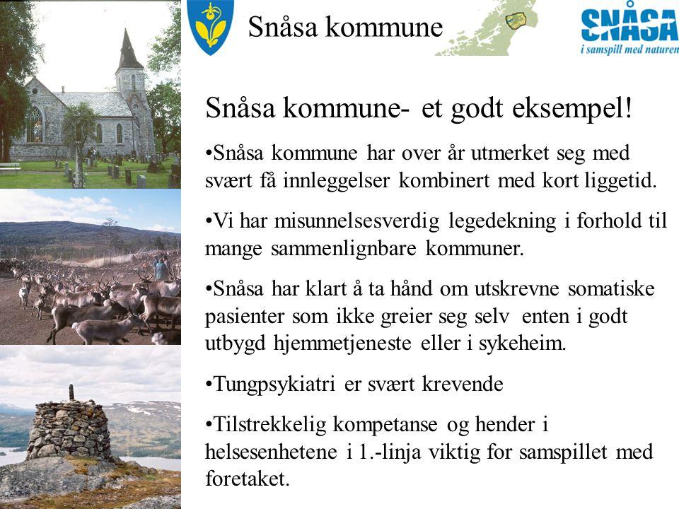Snåsa kommune Drivkrefter 1: Medisinsk FOU.