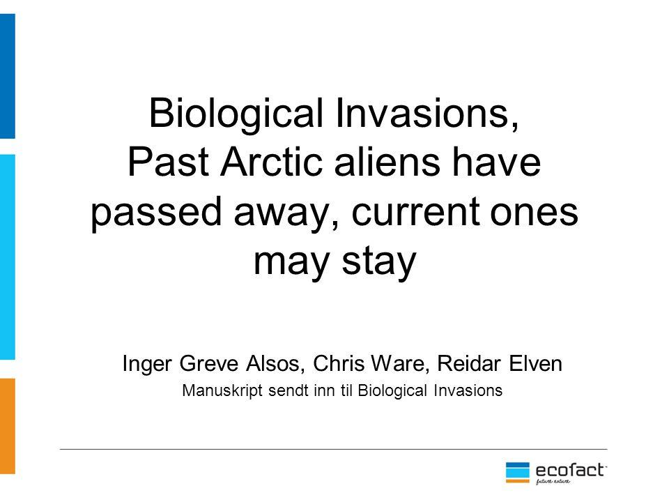 Alsos med flere har gjort følgende: Undersøkt forekomst av innførte arter fra 130 år tilbake og frem til i dag.
