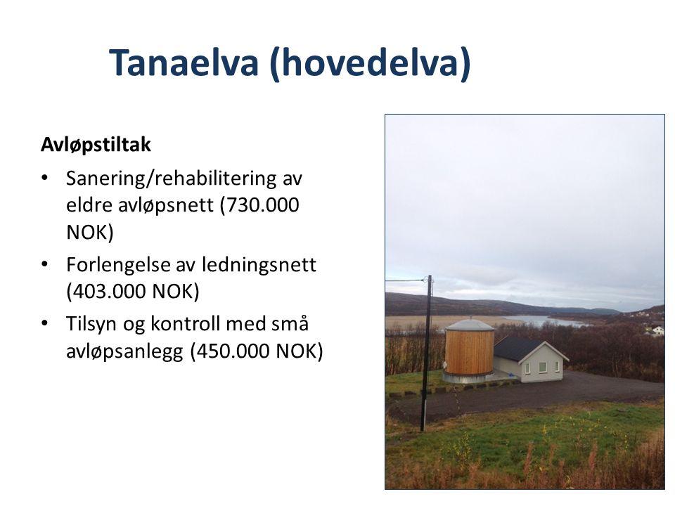 Overvåkning av nedlagte kommunale avfallsfyllinger forts BEHOV FOR OPPFØLGINGSTILTAK I 2014 Prøvetaking av avfallsfyllinger i tiltaksklasse 1: – Styrdalen og Vargvikholmen (Berlevåg) – Mánnevárre (Karasjok) – Vevikneset, Mehamn (Gamvik) – Kjøllefjord (Lebesby)