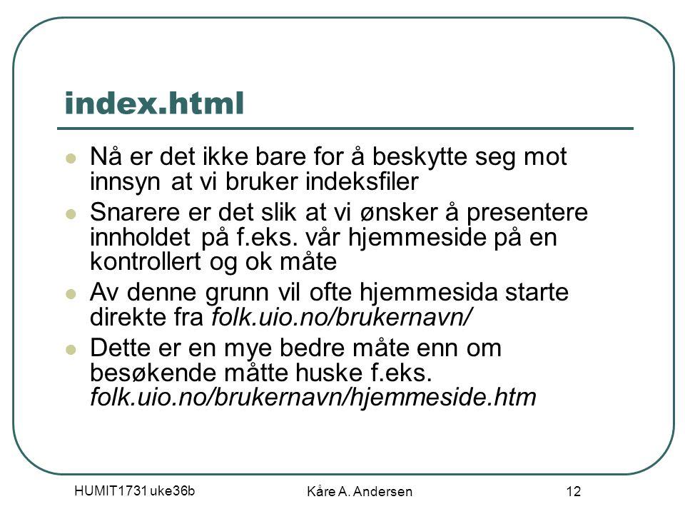 HUMIT1731 uke36b Kåre A.
