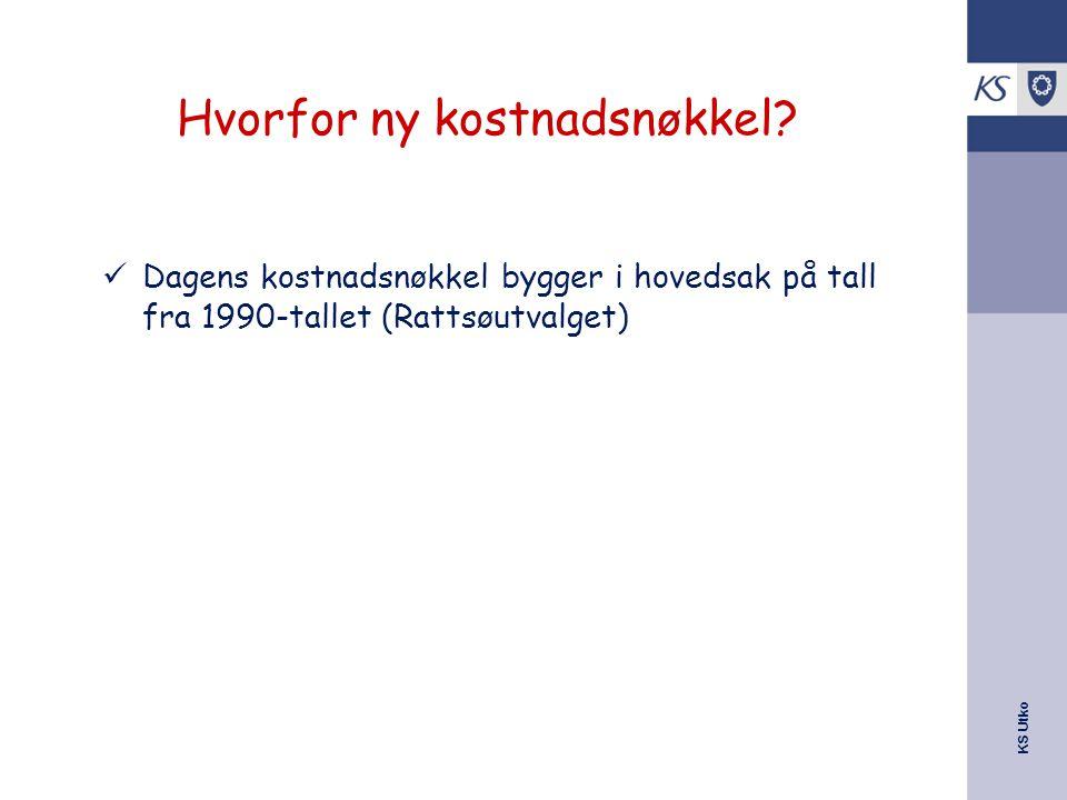 KS Utko Hvorfor ny kostnadsnøkkel.