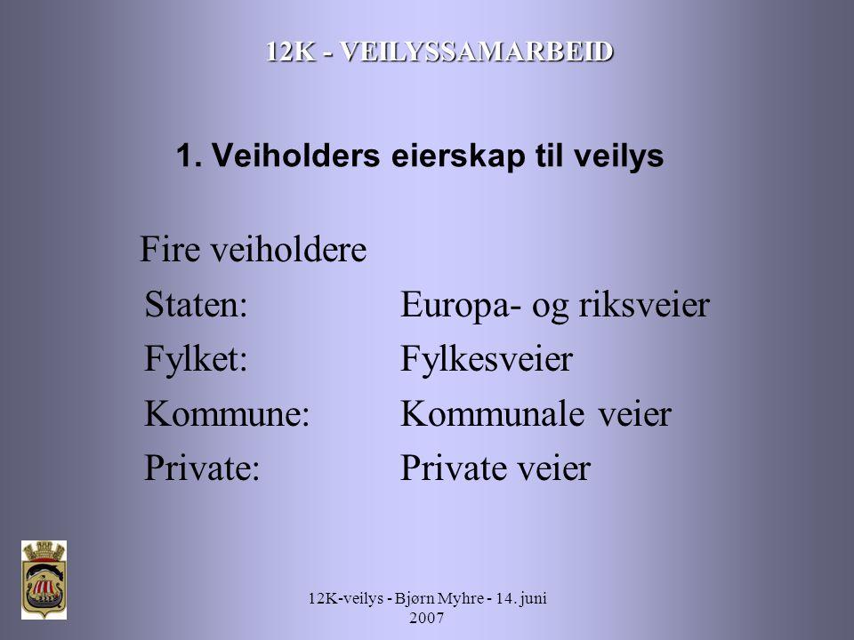 12K-veilys - Bjørn Myhre - 14. juni 2007 12K - VEILYSSAMARBEID 1.