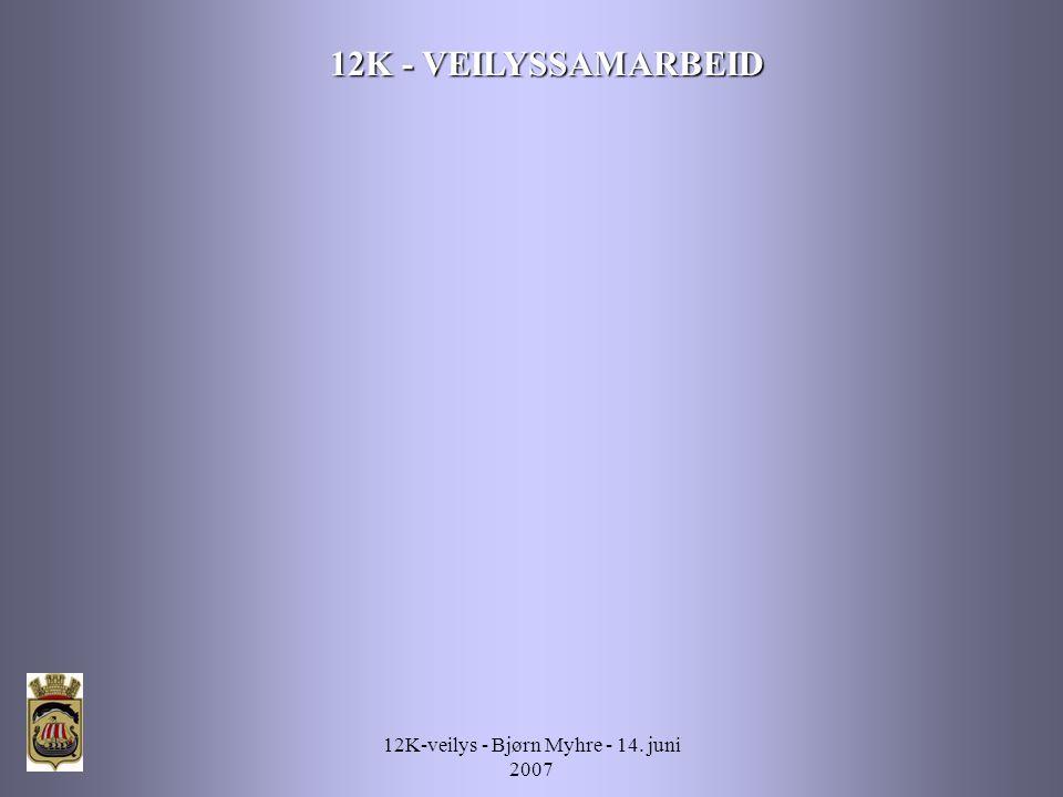 12K-veilys - Bjørn Myhre - 14. juni 2007 12K - VEILYSSAMARBEID