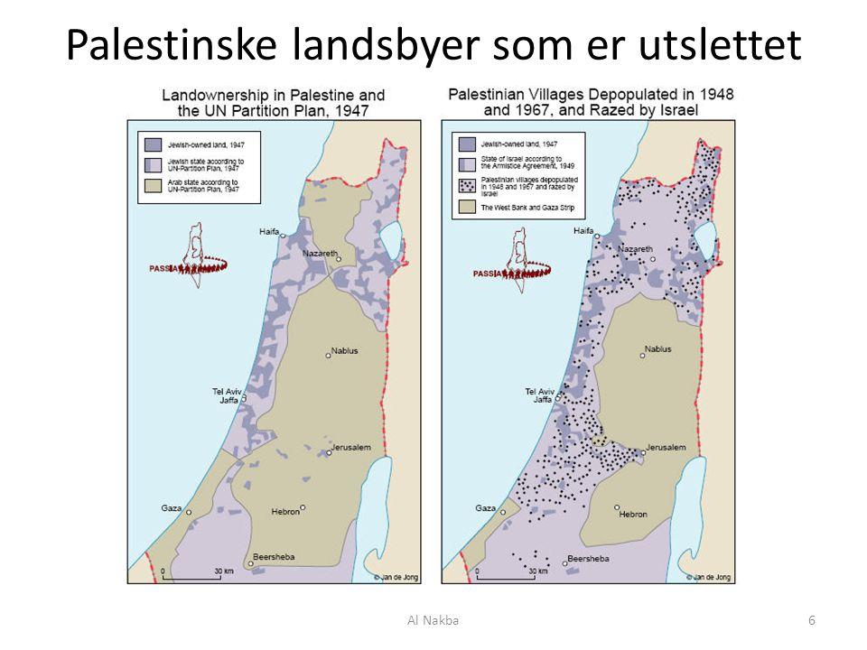 Flyktninger 2001 Palestinerne flykter hovedsakelig til nabolandene, og til Gazastripen.