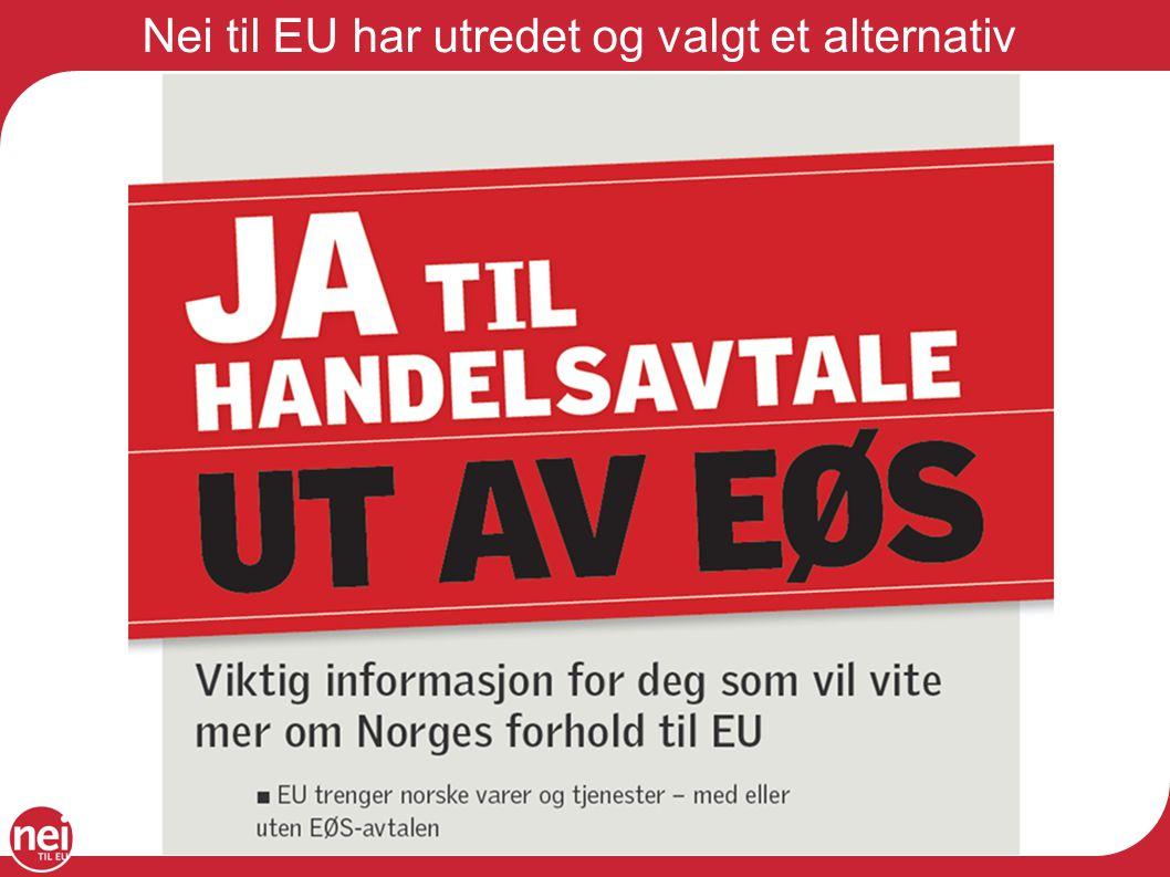 Nei til EU har utredet og valgt et alternativ