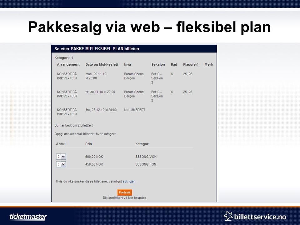Pakkesalg via web – fleksibel plan