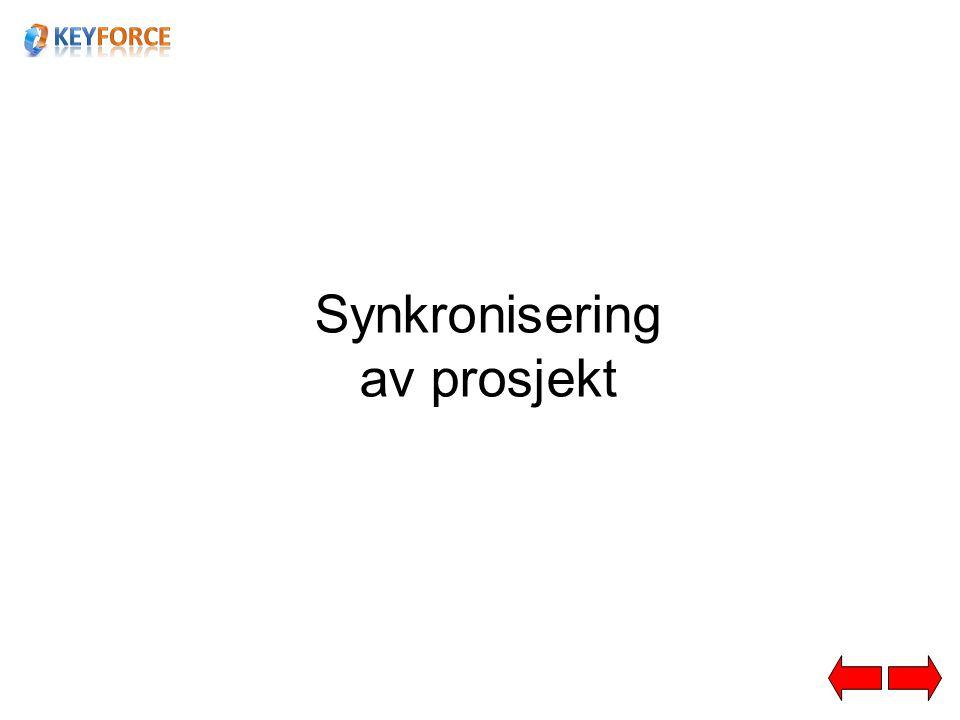 Synkronisering av prosjekt