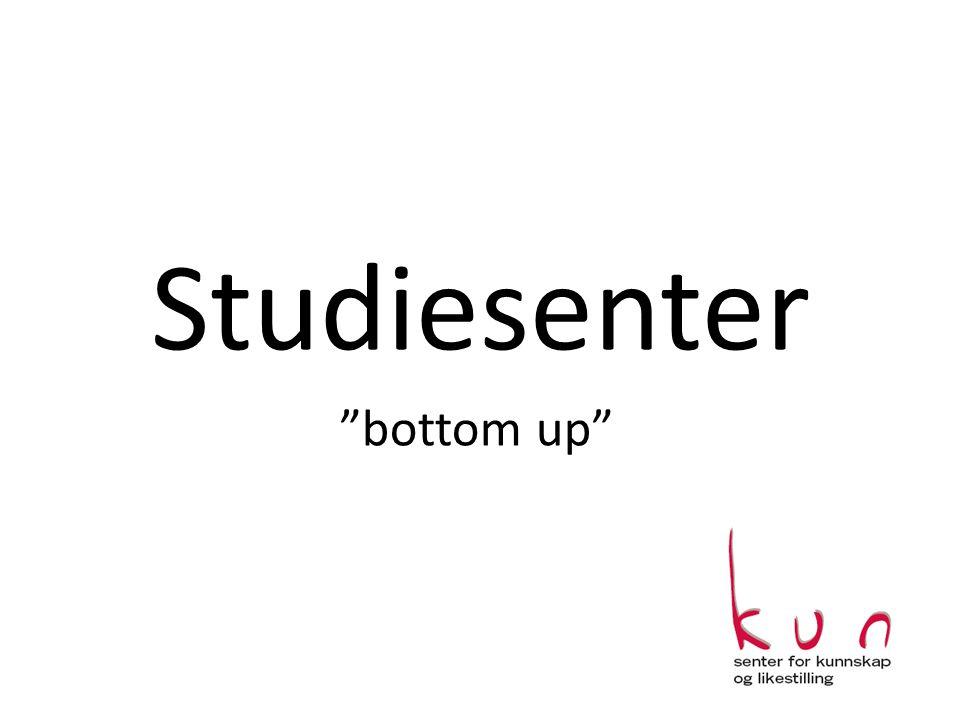 "Studiesenter ""bottom up"""