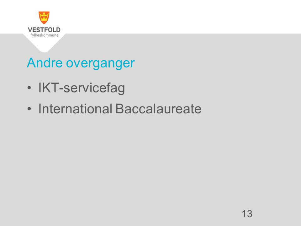IKT-servicefag International Baccalaureate Andre overganger 13