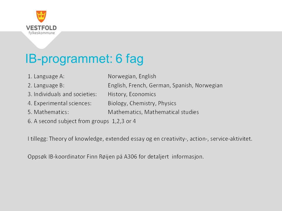 IB-programmet: 6 fag