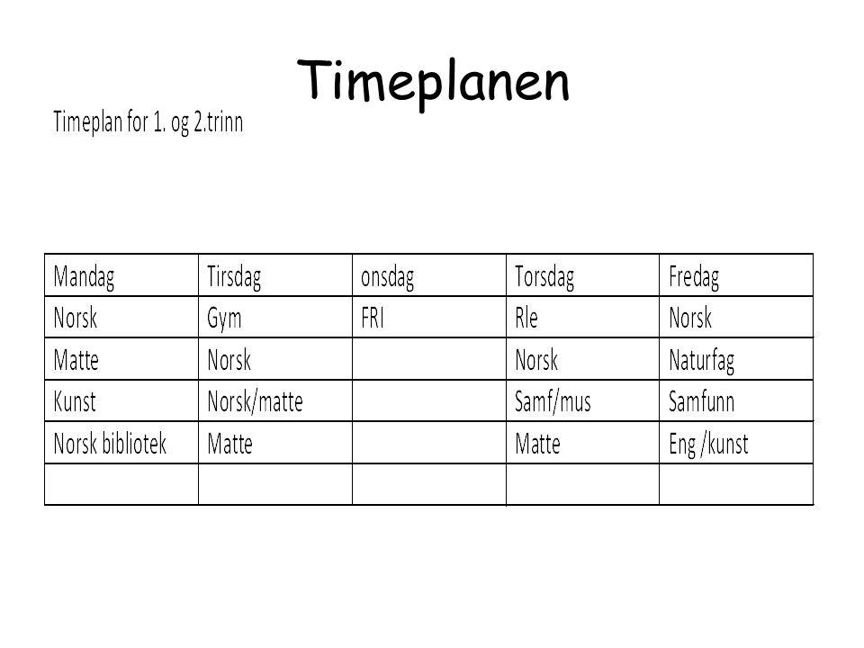 TIMEPLAN /TIMEFORDELING 1.