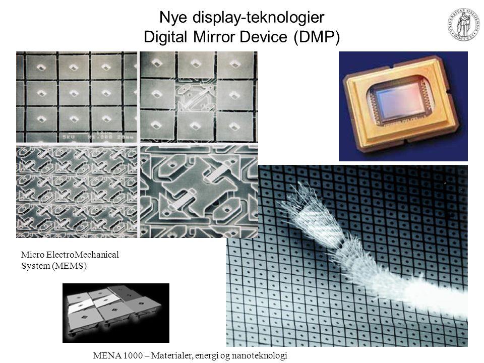 MENA 1000 – Materialer, energi og nanoteknologi Moderne display-teknologier; LCD-skjerm og LCD-videoprosjektør Figurer: http://www.ProjectorPeople.com