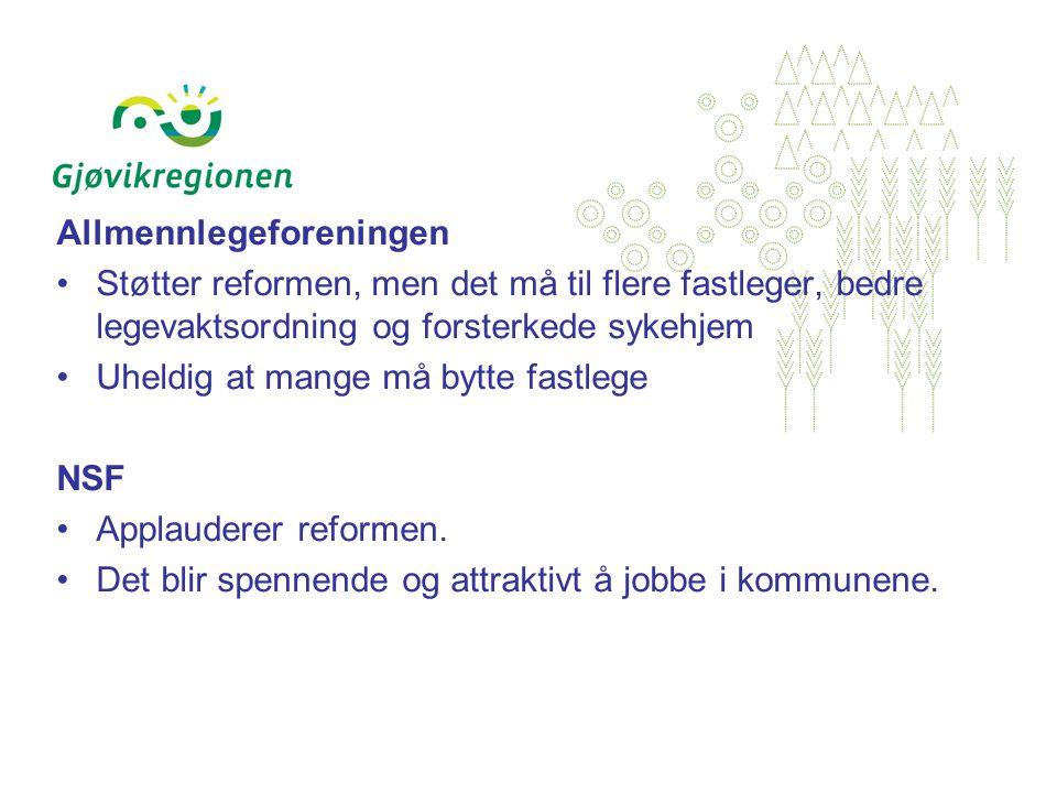 Vilje til samarbeid uavhengig av reformen Fordi vi ønsker å utnytte muligheter både med hensyn til kompetanse og ressurser.