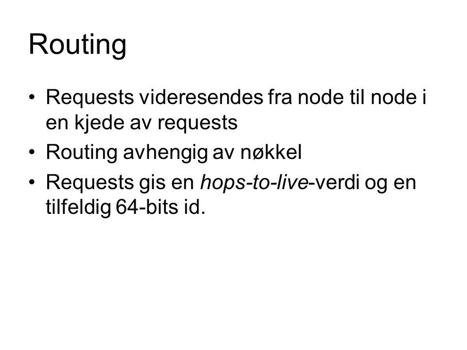 Sikkerhet – modifisering av filer Anonymitet gjør at noder kan sende fiktive data tilbake hvis de mottar en spørring.