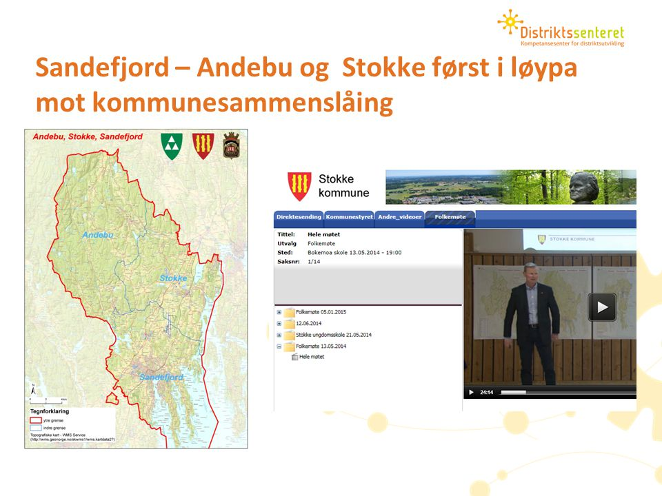 Sandefjord – Andebu og Stokke først i løypa mot kommunesammenslåing