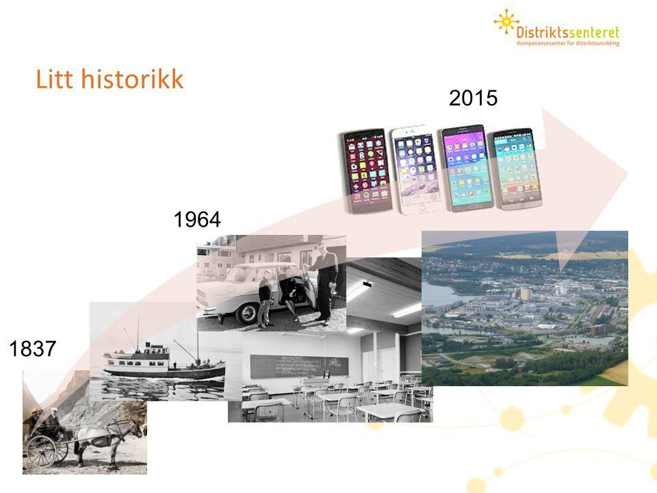 Utfordringsbildet – KommuneNorge er forandret 1964: Skole, skatt, sosial- og trygdevesen, vei.