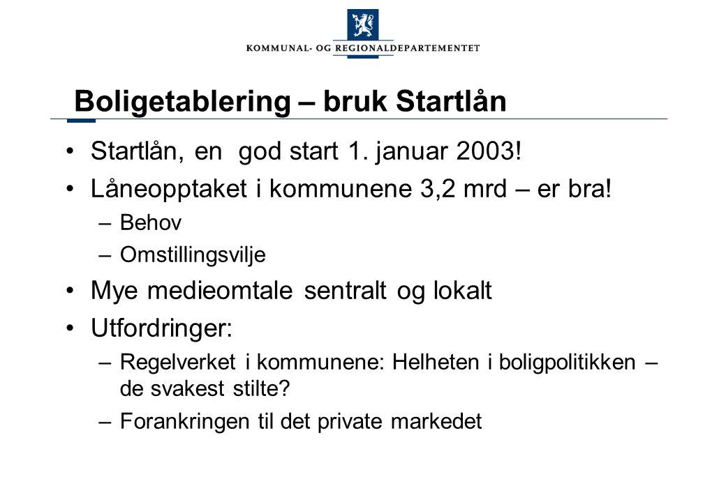 Boligetablering – bruk Startlån Startlån, en god start 1.