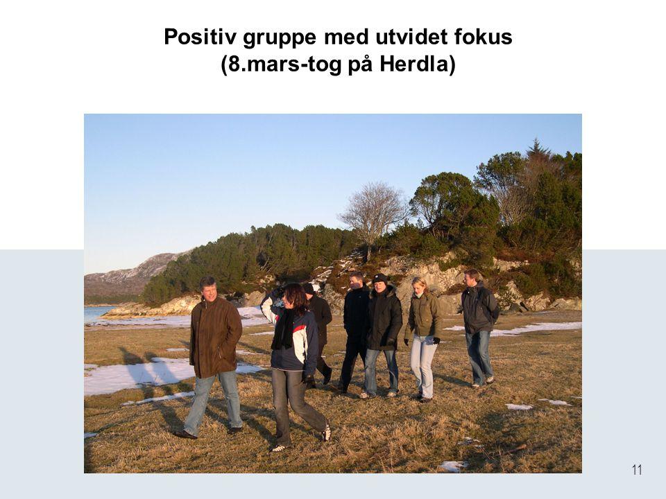 11 Positiv gruppe med utvidet fokus (8.mars-tog på Herdla)